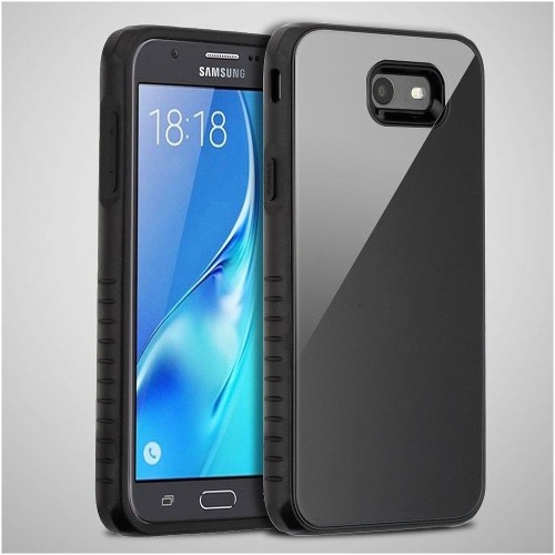 Insten Fusion Hard Case For Samsung Galaxy Halo/J7 (2017)/J7 Perx/J7 Prime/J7 Sky Pro/J7 V, Black