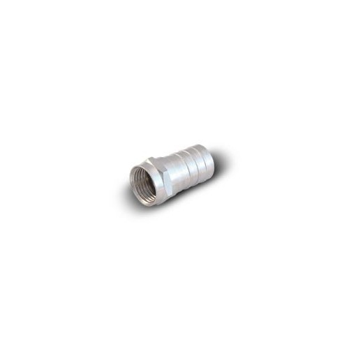 RG6 - Crimping F Connector. Nickel (10pcs/Bag)