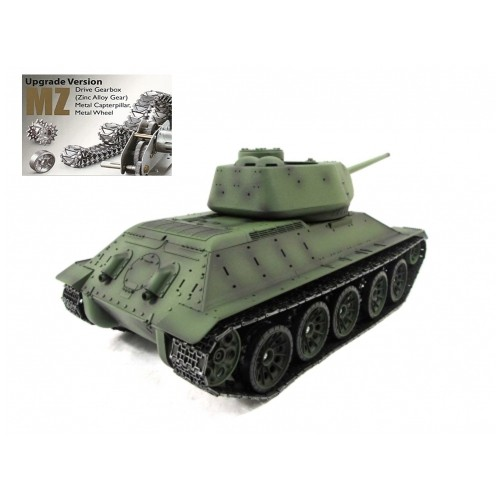 2dc69ad8b020 New!T-34 85 Russian Tank - Upgraded MZ Model Version 3909 2.4 GHz 1 16  Scale R C With Upgraded Drive Gearbox -Online Only - Online Only
