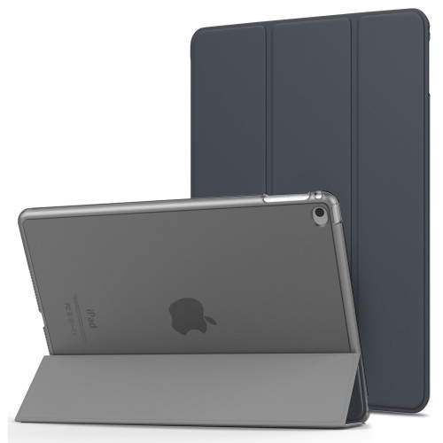 "MiiU (TM) IPAD 5 9.7"" 2017 SMART Magnetic CASE WITH HARD BACK COVER BLACK (400-331) A1822 A1823"