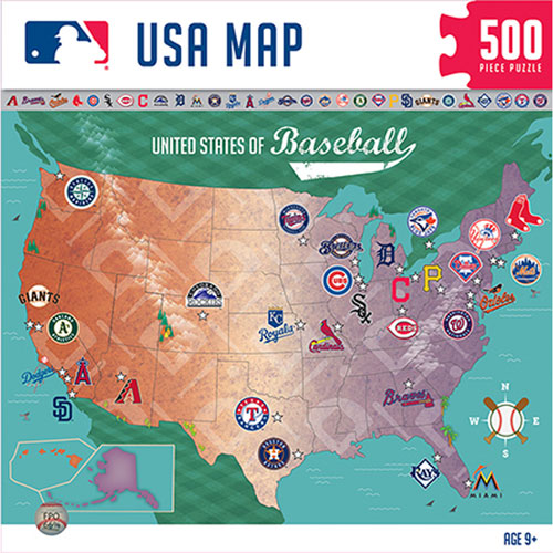 MLB Sports Map Jigsaw Puzzle 500 Pieces Puzzles Best Buy Canada