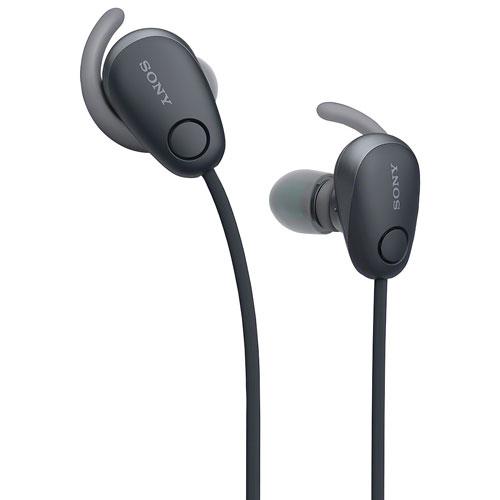 Sony Wi Sp600n In Ear Noise Cancelling Bluetooth Headphones Black Best Buy Canada
