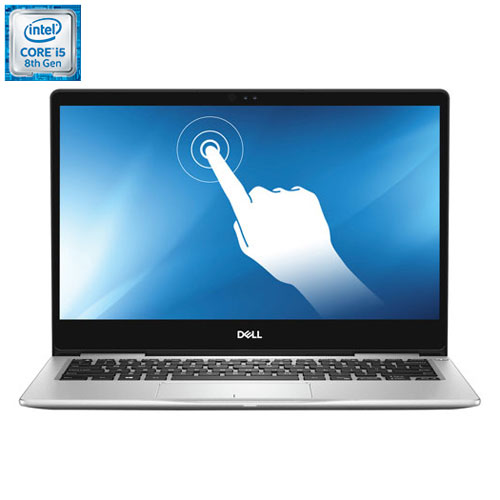 Port. écran tactile 13,3 po Inspiron Dell - Noir (Core i5-8250U Intel/SSD 256 Go/RAM 8 Go/Win 10) An