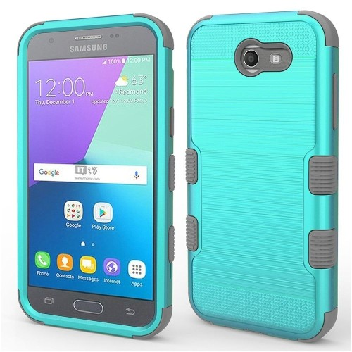 Insten Hard Case For Samsung Galaxy Amp Prime 2/Express Prime 2/J3 (2017)/J3 Eclipse/J3 Emerge, Teal