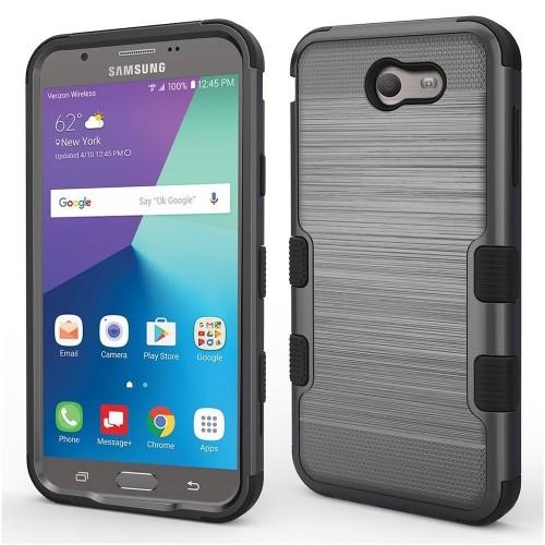 Insten Tuff Hard Case For Samsung Galaxy Halo/J7 (2017)/J7 Perx/J7 Prime/J7 Sky Pro/J7 V, Dark Gray