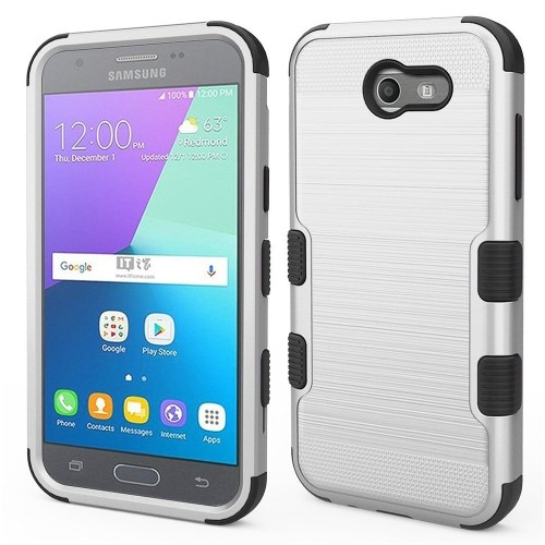 Insten Hard Case For Samsung Galaxy Amp Prime 2/Express Prime 2/J3 (2017)/J3 Eclipse, Silver