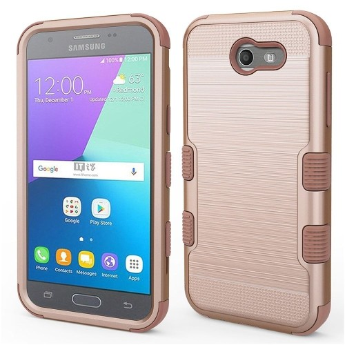Insten Hard Case For Samsung Galaxy Amp Prime 2/Express Prime 2/J3 (2017)/J3 Eclipse, Rose Gold