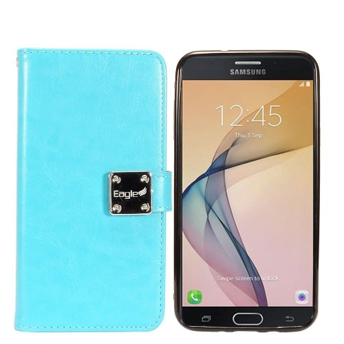 Insten Detachable Magnetic Book-Style Leather Case For Samsung Galaxy Halo/J7 (2017)/J7 Perx, Blue