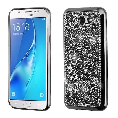 Insten Mini Crystals Rhinestones Desire Gel Case For Samsung Galaxy Halo/J7 (2017)/J7 Perx, Black