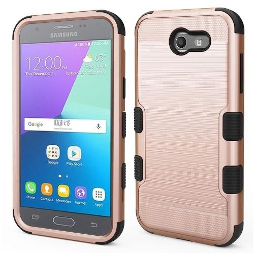 Insten Hard Case For Samsung Galaxy Amp Prime 2/Express Prime 2/J3 (2017)/J3 Eclipse, Rose Gold