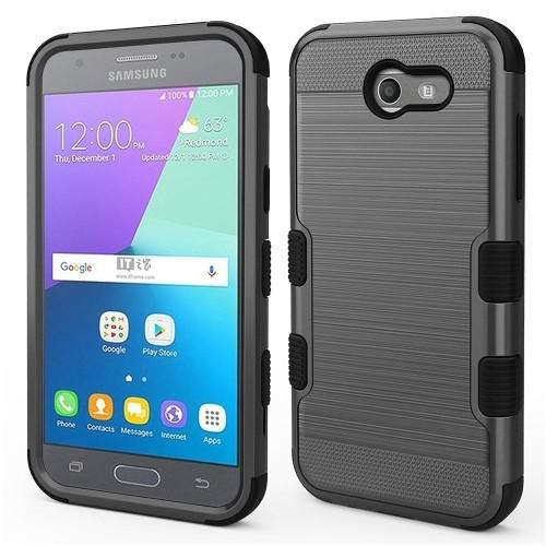 Insten Hard Case For Samsung Galaxy Amp Prime 2/Express Prime 2/J3 (2017)/J3 Eclipse, Dark Gray