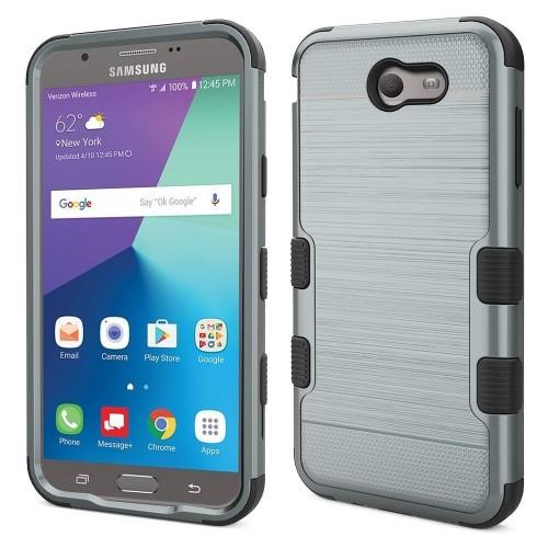 Insten Hard Case For Samsung Galaxy Halo/J7 (2017)/J7 Perx/J7 Prime/J7 Sky Pro/J7 V, Grayish Blue