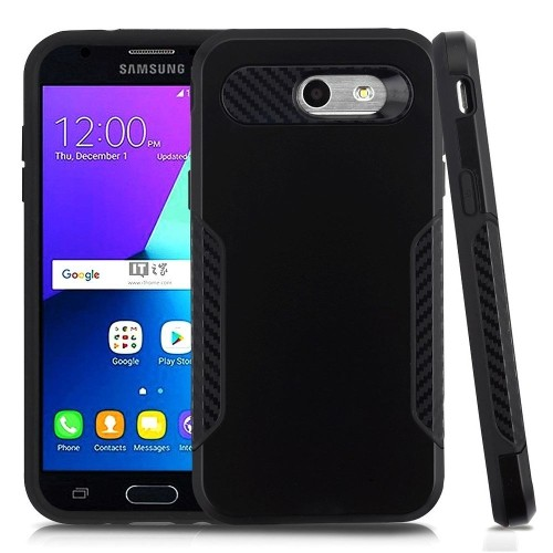 Insten Hard Case For Samsung Galaxy Amp Prime 2/Express Prime 2/J3 (2017)/J3 Eclipse, Black