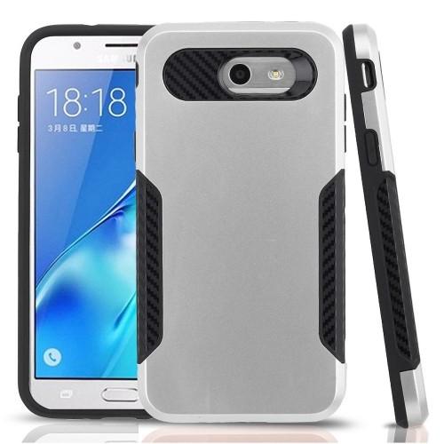 Insten Hard Cover Case For Samsung Galaxy Halo/J7 (2017)/J7 Perx/J7 Prime/J7 Sky Pro/J7 V, Silver