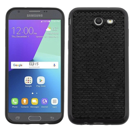 Insten Fitted Hard Shell Case for Samsung Galaxy Amp Prime - Black