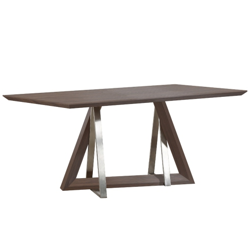 Inspire Drake Dining Table Walnut 201-219WAL