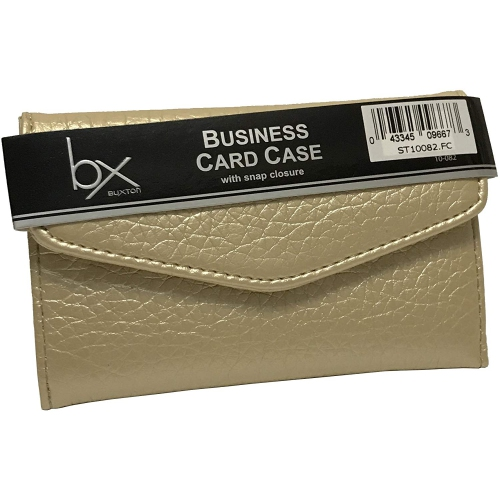 Buxton Business Card Credit Card Case Wallet Gold Wallets
