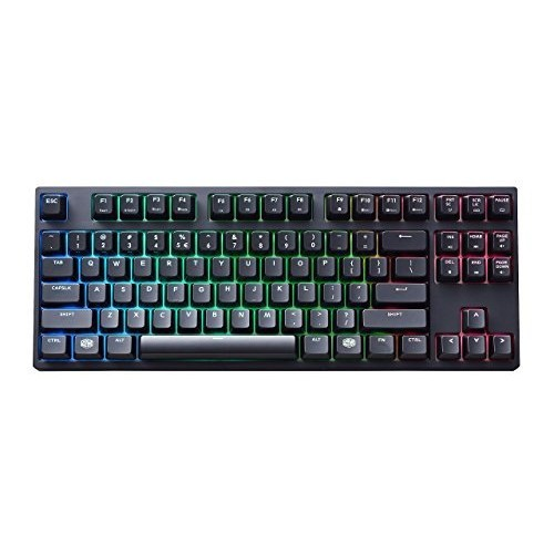 Cooler Master MasterKeys Pro S RGB Mechanical Gaming Keyboard, Cherry MX Red (Linear), RGB LED, TenKeyless (Small)