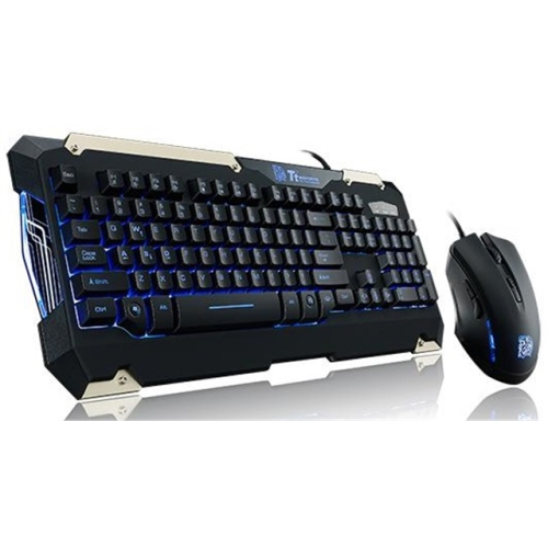 THERMALTAKE TT ESPORTS COMMANDER LED ILUMINATION GAMING KEYBOARD AND MOUSE COMBO BUNDLE KB-CMC-PLBLUS-01