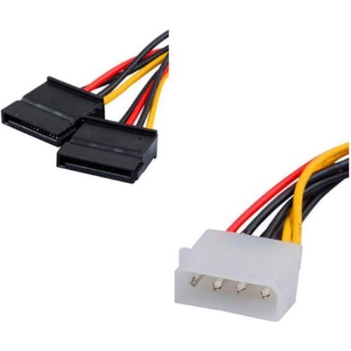 axGear Double SATA 4 broches femelle IDE mâle Y Splitter adaptateur de disque dur Câble d'alimentation