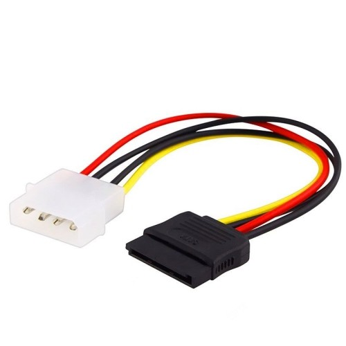 axGear Molex to SATA Power Converter Cable 4 Pin to 15 Pin Male to Female Wire