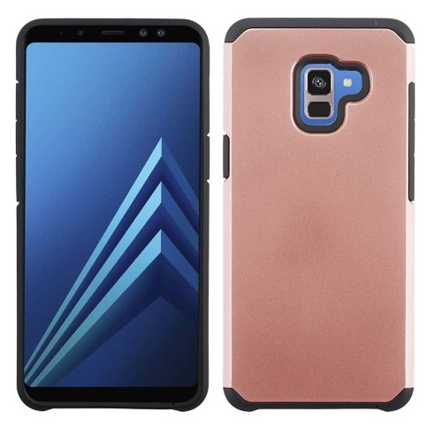Insten Astronoot Hard Hybrid Plastic TPU Case For Samsung Galaxy A7 (2018), Rose Gold/Black