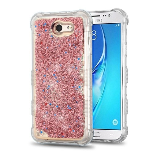 Insten Quicksand Glitter Hard Cover Case For Samsung Galaxy J7 (2017)/J7 Perx/J7 V, Rose Gold