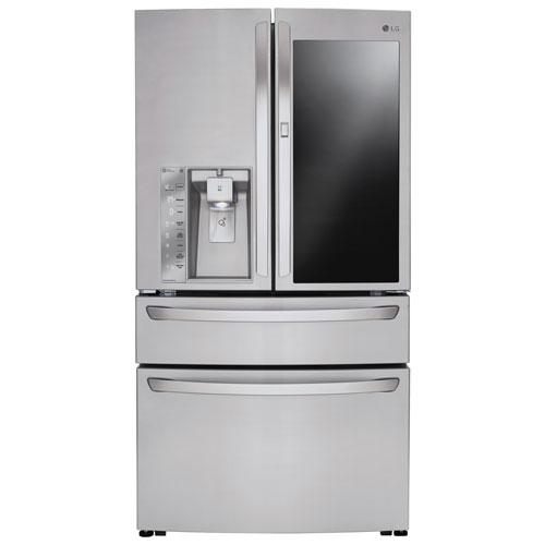 "LG InstaView 36"" 22.5 Cu. Ft. Counter-Depth French Door Refrigerator (LMXC23796S) - Stainless Steel"