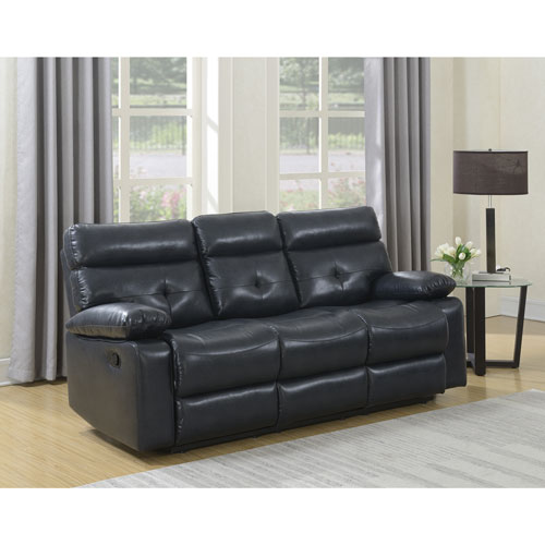 Best Online Sofa Store: Ebba Premium Leatherette Reclining Sofa