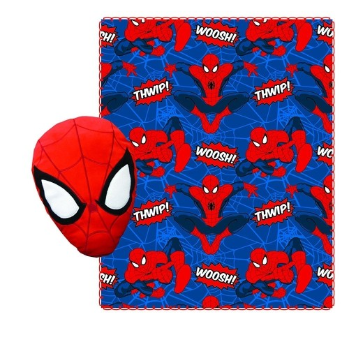 Spiderman Fleece Throw Blanket For Kids And Plush Stuffed Toy Pillow Fascinating Plush Throw Blanket Canada