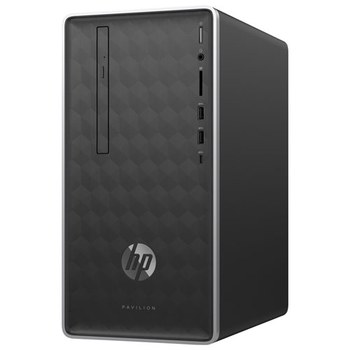 HP Pavilion Desktop PC - Ash Silver (AMD A10-9700 / 2TB HDD / 8GB RAM / Windows 10) - English