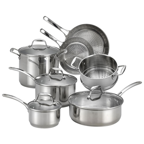 T Fal Performa X 11 Piece Stainless Steel Cookware Set Cookware