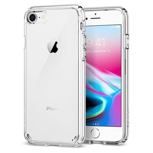 Iphone 8 Case Iphone 7 Case Spigen Ultra Hybrid 2nd Generation Reinforced Camera Protection Clear Case For Apple Iphone Best Buy Canada