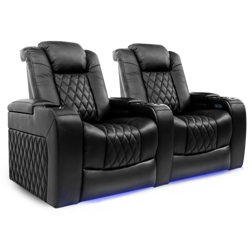 Groovy Valencia Tuscany Top Grain Nappa Leather Power Reclining Power Lumbar Power Headrest Home Theatre Seating Row Of 2 Seat Pabps2019 Chair Design Images Pabps2019Com