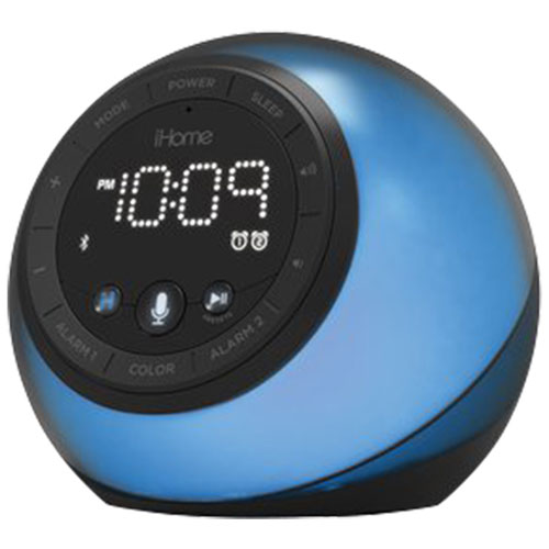 IHome IBT297 Bluetooth Alarm Clock Radio & Color-Changing Speaker