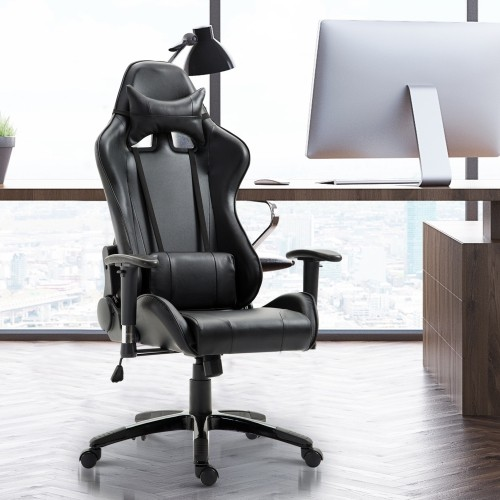 HOMCOM Executive Racecar Style Office Chair Black : Gaming Chairs   Best  Buy Canada