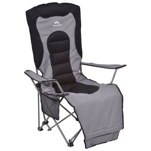 Viva Active Padded Kickback Camping Chair   Black/Grey