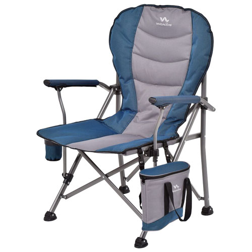 Viva Active Oversized Super Comfort Camping Chair   Blue/Grey/Black :  Camping Chairs   Best Buy Canada