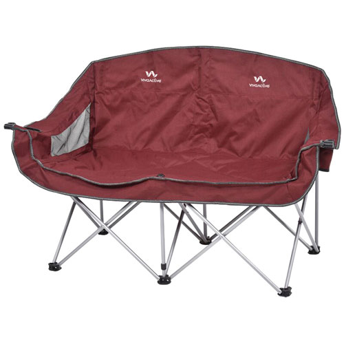 Viva Active Dual Sofa Camping Chair   Burgundy/Grey : Camping Chairs   Best  Buy Canada