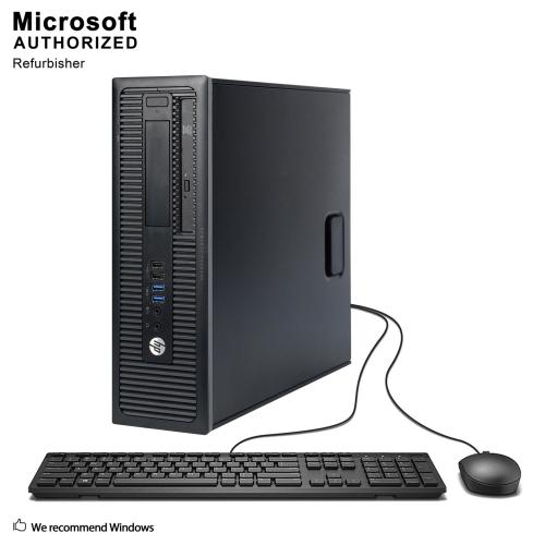HP ProDesk 600 G1 SFF, Intel Core I5-4590 3.3GHZ, 8G RAM, 500G HDD, DVD-ROM, Win 10P-Refurbished