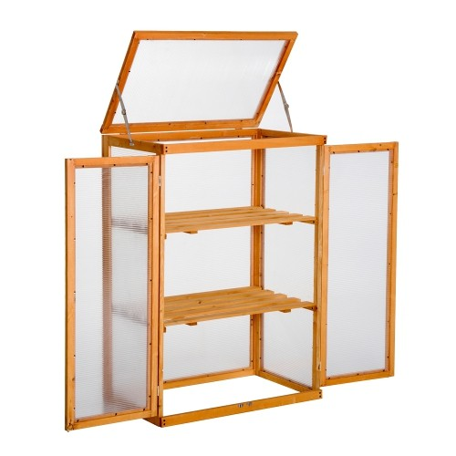 Outsunny Wooden 2 Shelf Cold Frame Greenhouse : Gazebos - Best Buy ...