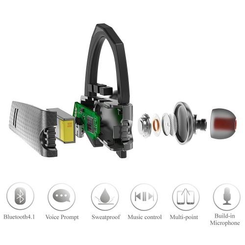 Cloele In-Ear/Ear Bud Noise Cancelling Bluetooth: 4.1 Headphone (Bluetooth Headset)