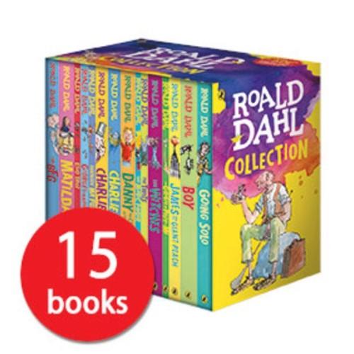 Roald Dahl Collection 15 Paperback Book Boxed Set Comic Books