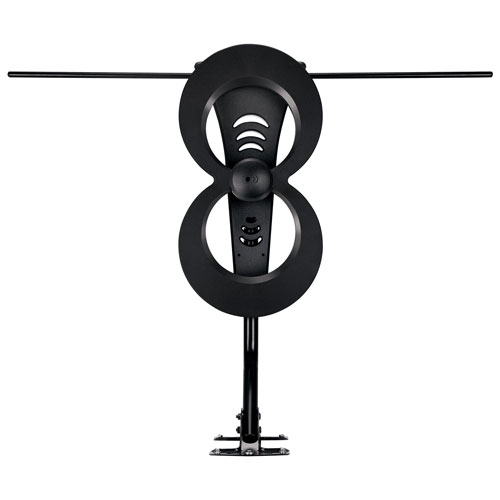 Antennas Direct ClearStream 2MAX Indoor/Outdoor Multidirectional TV Antenna - Dark Grey