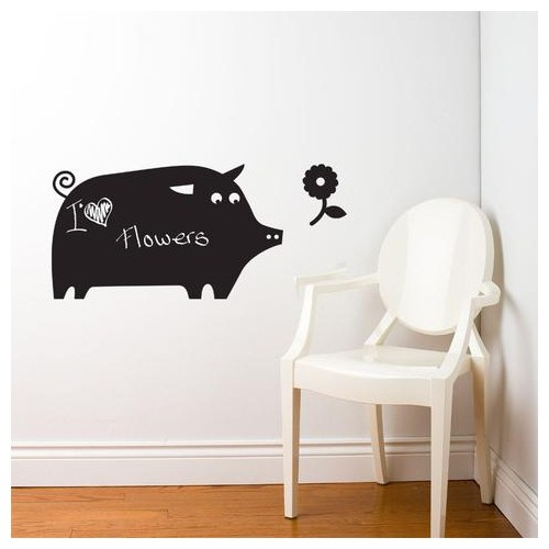 pig, chalkboard wall decal : wallpaper & wall decals - best buy canada