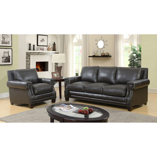 Genuine Leather Sectional Sofa Canada: Notting Hill Genuine Leather Sofa