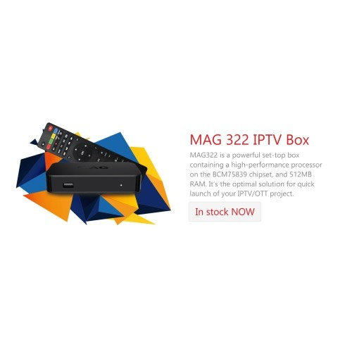 New 2018 Genuine Infomir MAG322W1 HEVC H 265 IPTV Set Top Box Latest Model  Built in 150m wifi HDMI