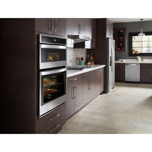 """Whirlpool 27"""" 4.3 Cu. Ft. Self-Clean Electric Combination Oven - Black/Stainless Steel"""