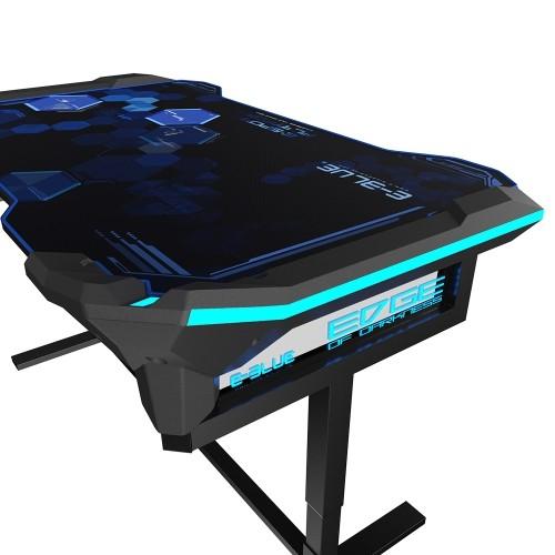 E Blue Rgb Glowing Pc Gaming Desk 2 0 Gaming Desks Best Buy Canada