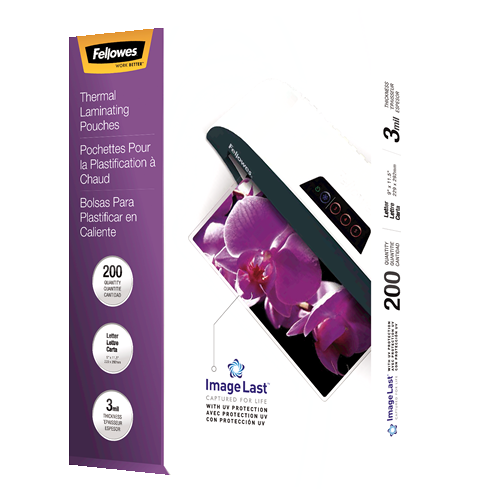 Fellowes Letter 3 mil Jam Free 200 Pack Laminating Pouch -